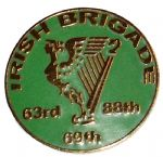 Union Irish Brigade Harp Circular Badge